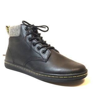 NEW Dr Martens Maelly Black Canvas Ankle Boots 9